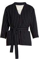 Acne Studios Jada V-neck striped-wool jacket
