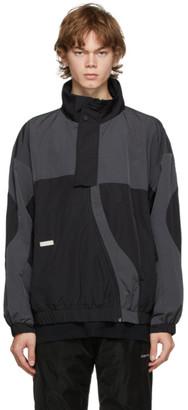 C2H4 Black and Grey Arc Sculpture Jacket