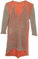 Helmut Lang Orange Linen Top for Women