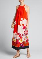 Kobi Halperin Coral Floral Halter Dress