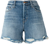 J Brand distressed shorts - women - Cotton - 24