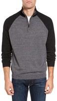 Tailor Vintage Men's Raglan Quarter Zip Sweater