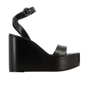 Casadei Wedge Sandal In Smooth Leather