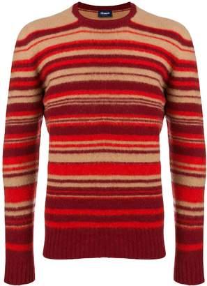Drumohr striped slim-fit sweater