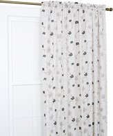 Ellis Curtain Zoe Crushed Taffeta Open Floral Print Curtain Panel, 48 by 84-Inch