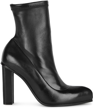 Alexander McQueen 100 Black Leather Ankle Boots