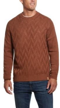 Weatherproof Vintage Men's Chevron Crew Neck Sweater
