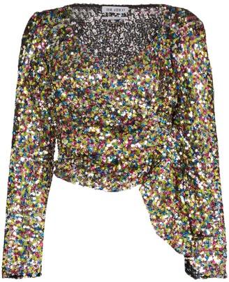 ATTICO Sequin Wrap Top