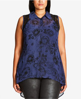 City Chic Trendy Plus Size High-Low Blouse