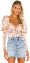 For Love & Lemons Aster Floral Bodysuit