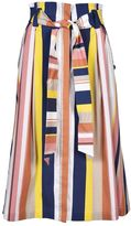 Tanya Taylor Striped A-line Skirt