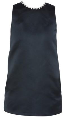 Area Black Crystal Heart Mini Dress