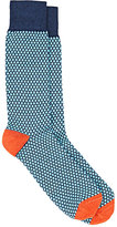 Barneys New York MEN'S DIAMOND-PATTERN MID-CALF SOCKS