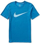 Nike Dri-FIT Swoosh Training Short-Sleeve Crew Neck Graphic Tee