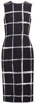 Jason Wu Collection Windowpane Stretch-Crepe Sheath Dress