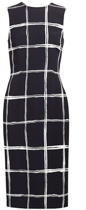 Jason Wu Collection Windowpane Stretch-Crepe Sheath Dress