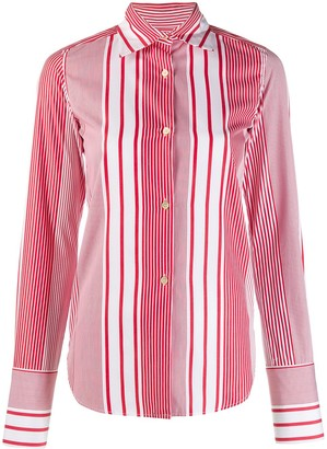 Romeo Gigli Pre Owned 1990's Striped Slim Shirt