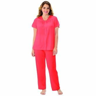Exquisite Form Women's Coloratura Plus Size Short Sleeve Pajama Set 90807