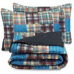 Nautica Plaid 3-Piece Full Quilt Set Bedding
