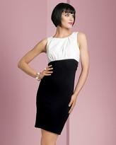 Aqua Women's Combo Sleeveless Dress
