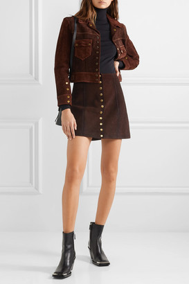 RE/DONE 60s Suede Mini Skirt - Dark brown