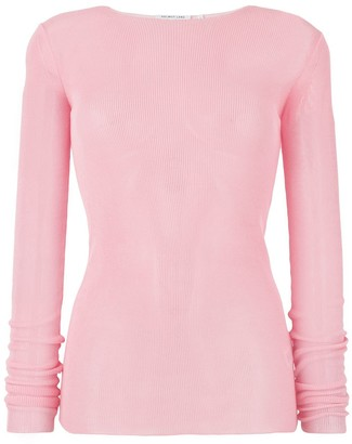 Helmut Lang drop needle woven top