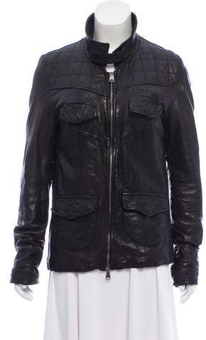 Giorgio Brato Leather Zip-Up Jacket