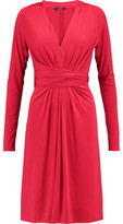 Raoul Gathered Stretch-Twill Dress