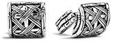 John Hardy Men's Woven Bamboo Silver Half Barrel Cufflinks