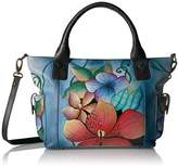 Anuschka Anna Handpainted Leather Women's Large Tote with Side Pockets
