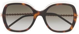 Elie Saab Oversized Frame Sunglasses