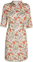 Sonia Rykiel Flower Print Shirt Dress