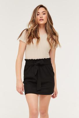Ardene Faux Suede Paper Bag Mini Skirt