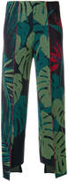 Circus Hotel lurex leaf print trousers