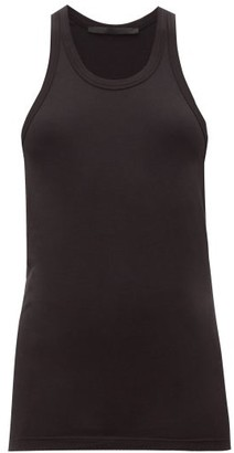 Haider Ackermann Racerback Cotton-blend Jersey Tank Top - Womens - Black