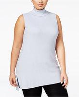 Alfani Plus Size Turtleneck Knit Top, Only at Macy's