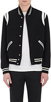 Saint Laurent Men's Classic Teddy Wool-Blend Varsity Jacket-BLACK