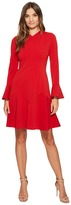 Maggy London New Castle Knit Long Sleeve Fit Flare Dress Women's Dress