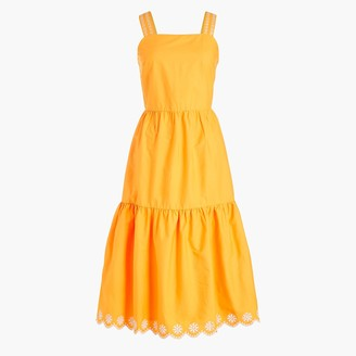 J.Crew Embroidered scalloped tiered dress