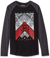 Zoo York Men's Synthesize Long Sleeve Raglan