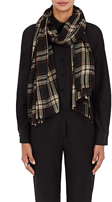 soeur Women's Atlas Plaid Wool Scarf