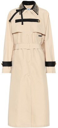Prada Embellished trench coat