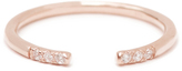 MINED 14k Gold & Diamond Open Ring, Assorted Colors