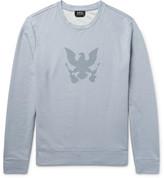 A.p.c. - Printed Stonewashed Loopback Cotton-jersey Sweatshirt