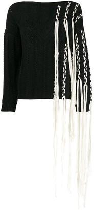 Loewe Knitted Fringed Jumper