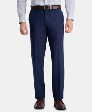 Haggar Men's Premium Comfort Straight-Fit 4-Way Stretch Wrinkle-Free Flat-Front Dress Pants
