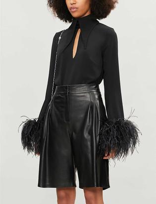 16Arlington Grant high-waisted leather shorts