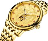 Carnival men's dragon and phoenix Collection' Luxury Carved Dial automatic mechanical simulation watch