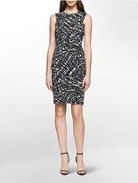Calvin Klein Geo Print Sheath Dress