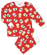 Sara's Prints Boys' Loose Fit Santa Print Pajama Set - Little Kid, Big Kid